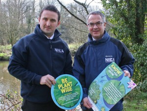 John Early from NIEA with Environment Minister Alex Attwood